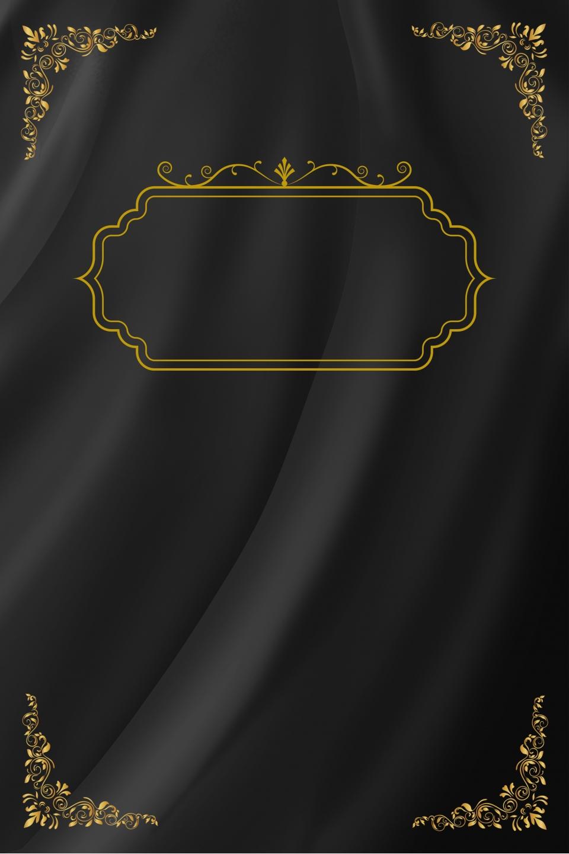 Invitation Black Gold Atmosphere Creative Business Art Poster