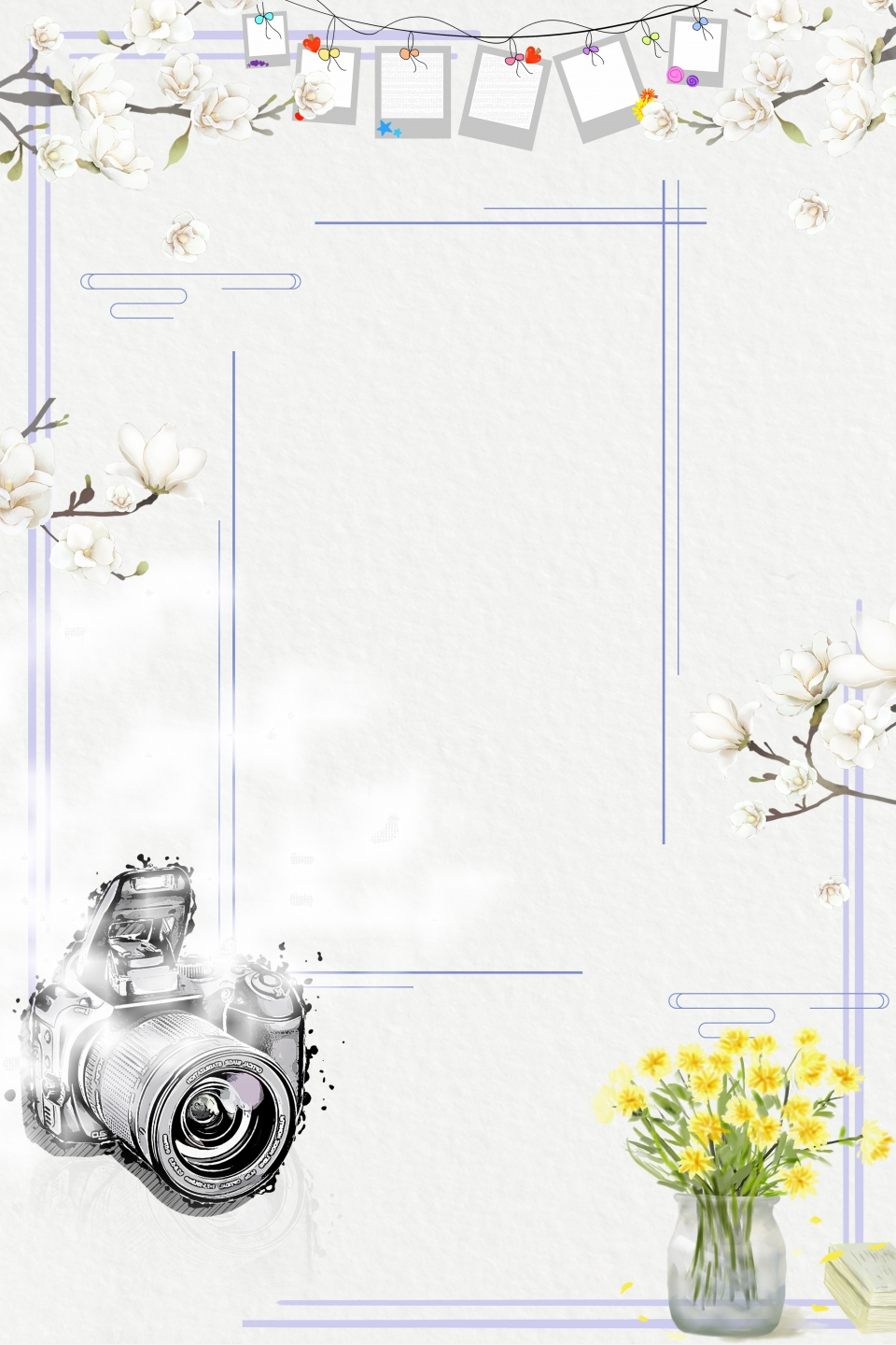 Literary Romantic Style Photography Theme Poster Background Illustration Photo Studio General Promotional Posters Photographer Contest Background Image For Free Download