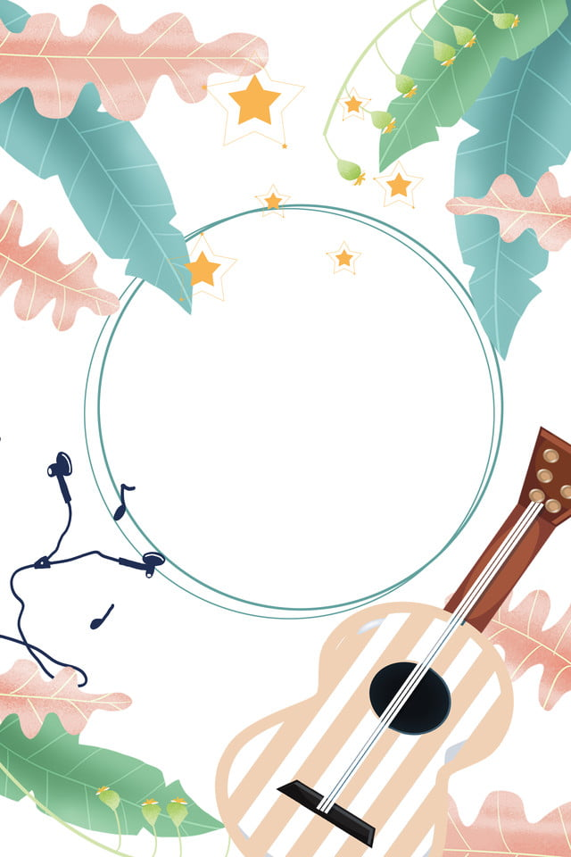 Musical Instrument World Children S Song Day Cute Background, Music