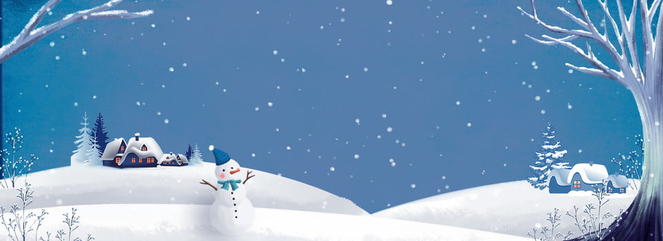 New In Winter New On Clothing Cute Snow, Trees, House, Snowy ...