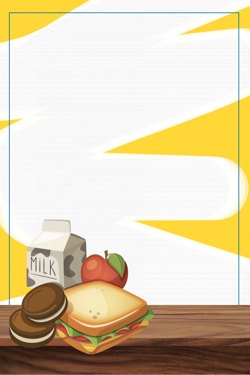 Nutritional Breakfast Healthy Food Promotion Poster, Nutritious