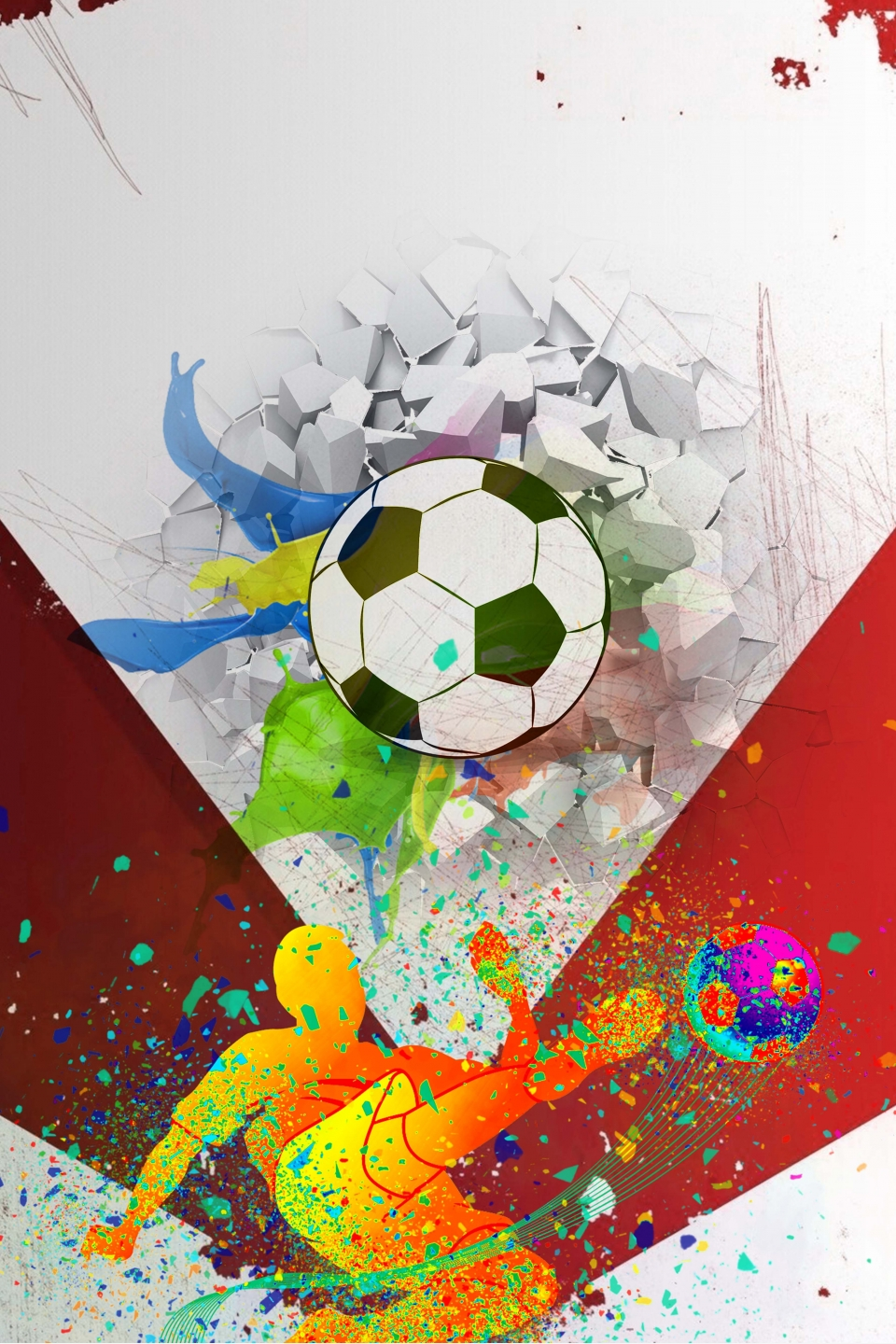 Poster Design For The 2018 World Cup Football Match, World
