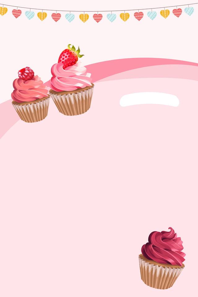 Simple Dessin Animé Mignon Gâteau Gâteau De D Affiche