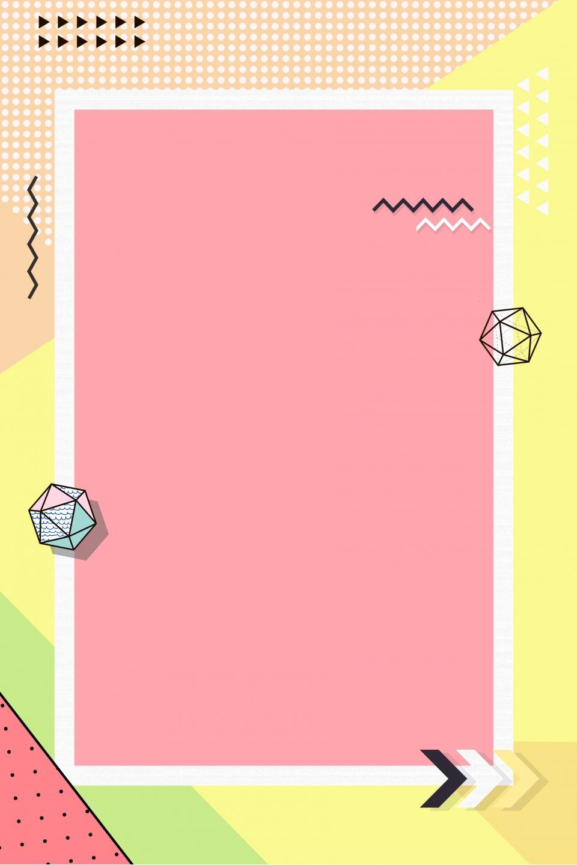 Small Fresh Minimalist Geometric Border Pop Style Poster ...