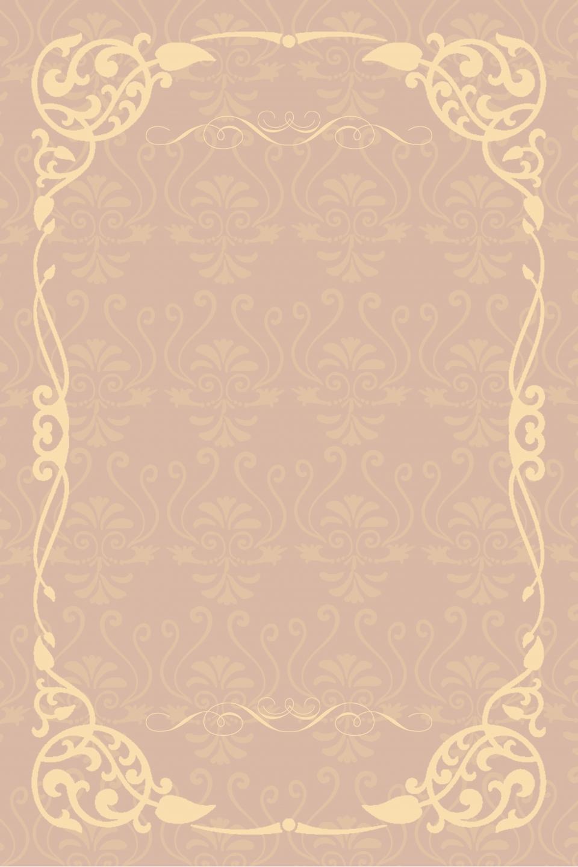 Vintage Floral Pattern Classical Border Business Background Line