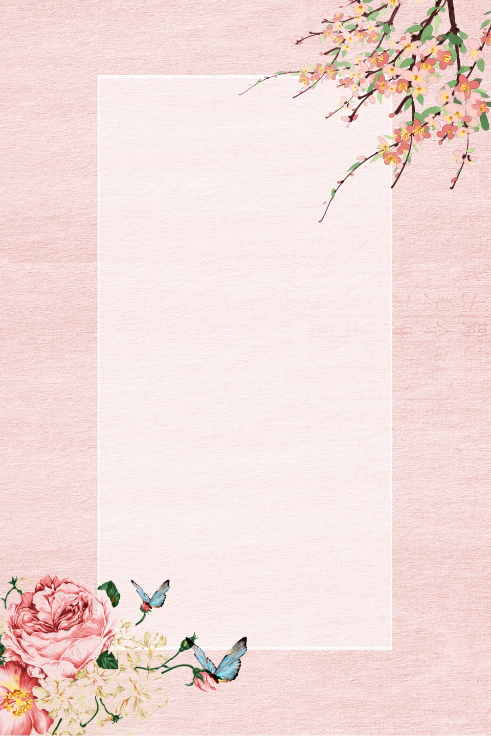 Vintage Hand Drawn Floral Watercolor Background Background