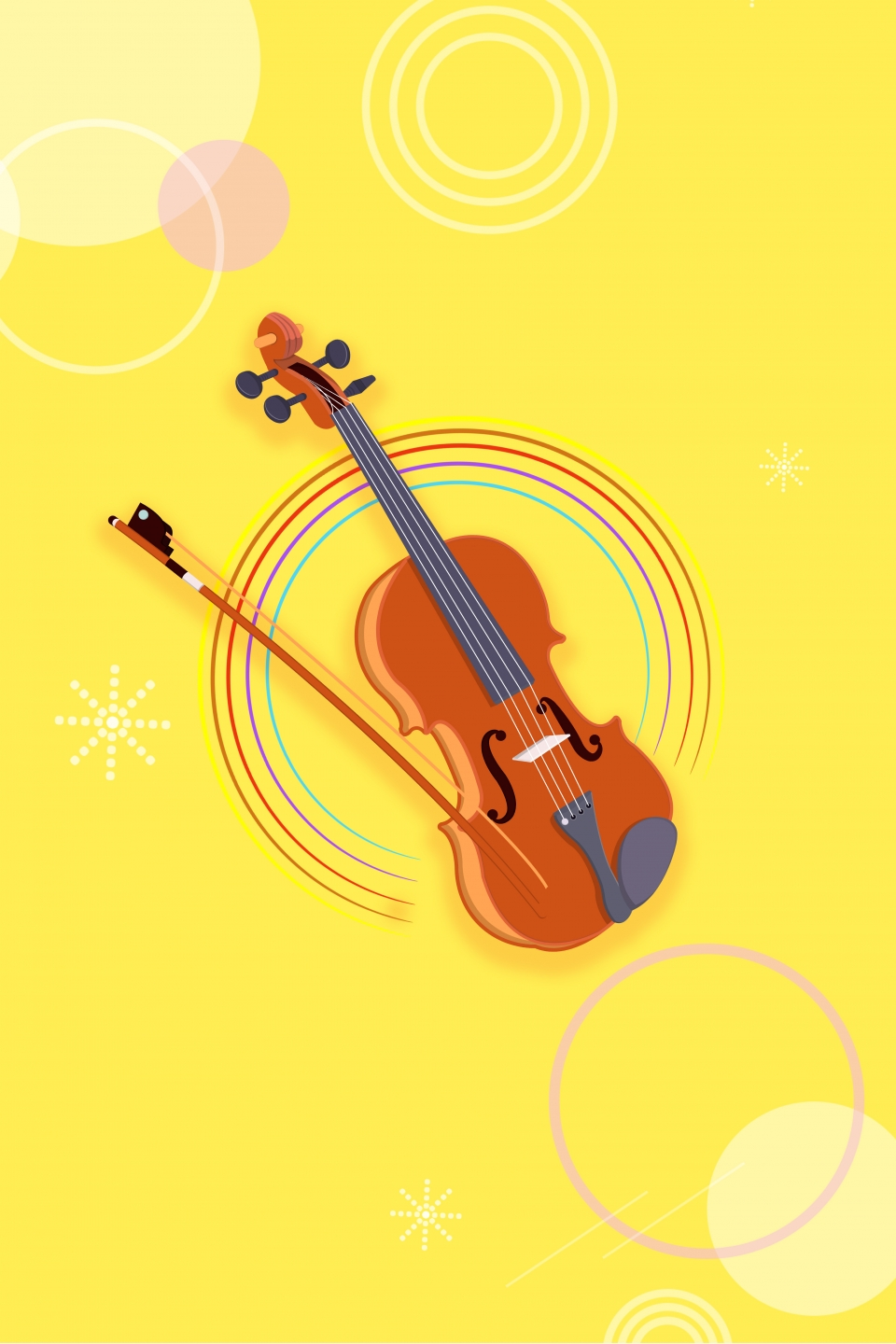 Violin Music Playing Poster Background, Violin, Music