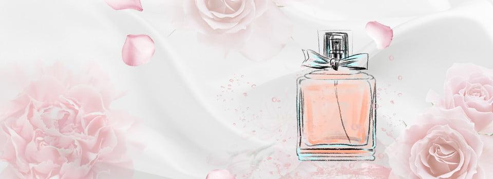 Woman Perfume Literary Flower Pink Banner, Perfume, Fresh