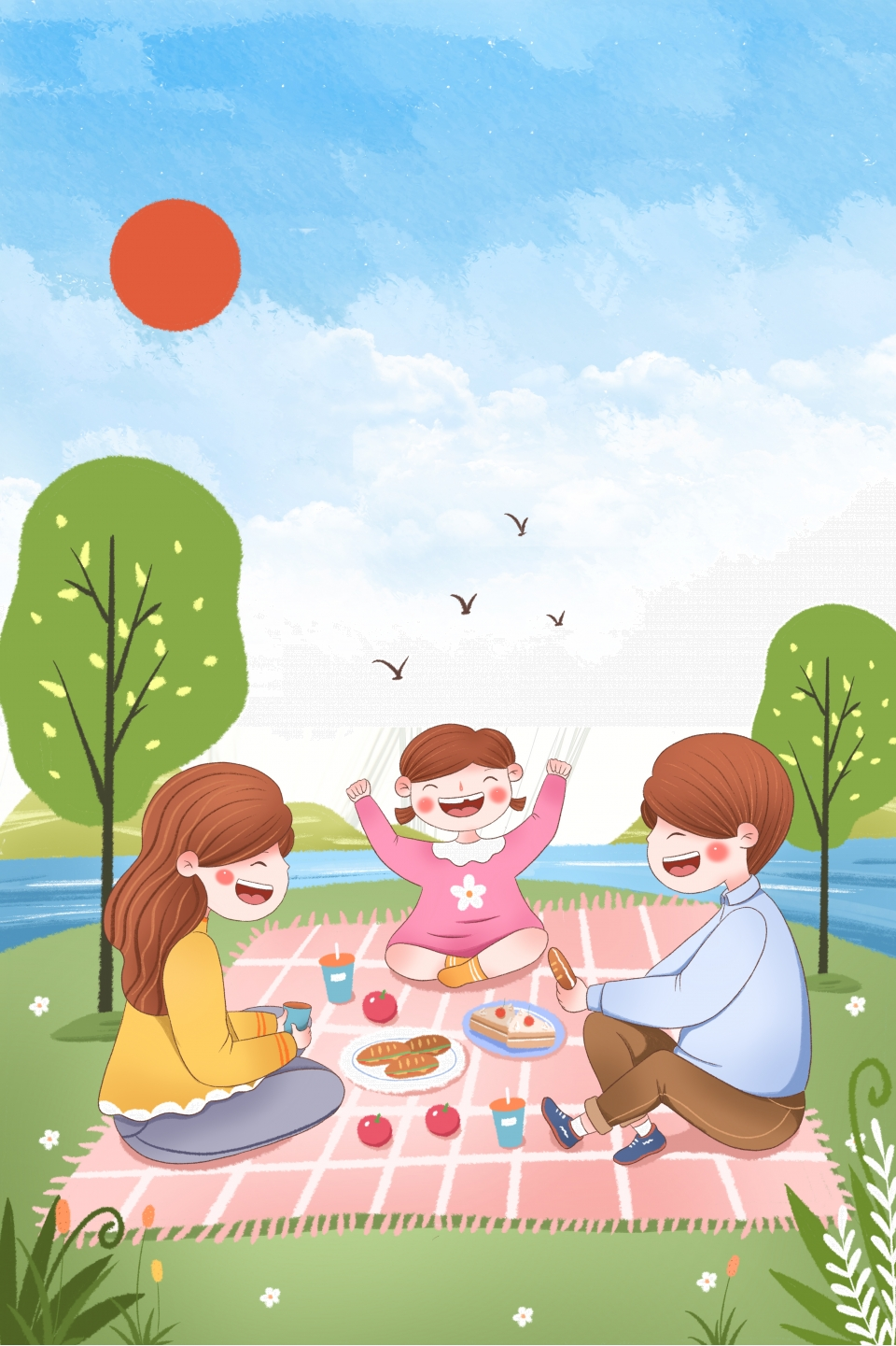 Картинки дети на пикнике