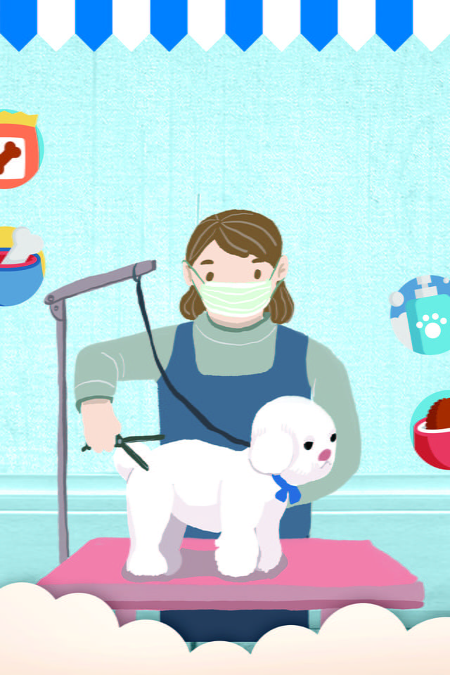 Cartoon Pet Beauty Salon Poster Pet Poster Pet Grooming Pet Trading Background Image For Free Download