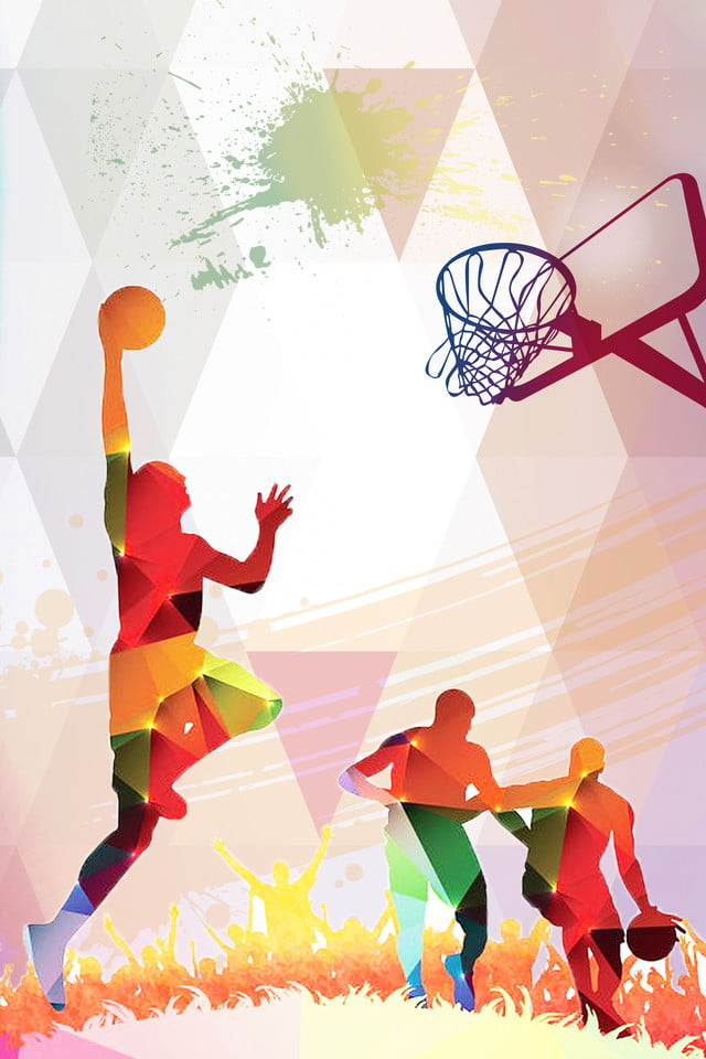 Colorful Basketball Life Playing Basketball National Sports Low
