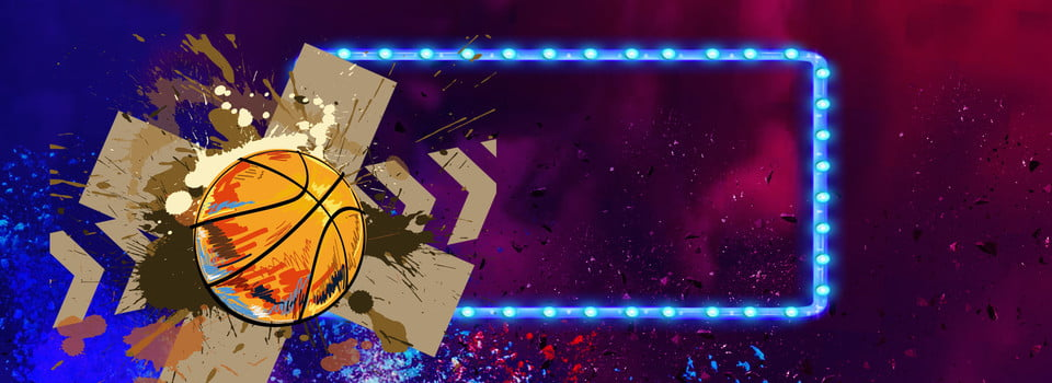 Dynamic Colorful Basketball Background Dynamic Colorful