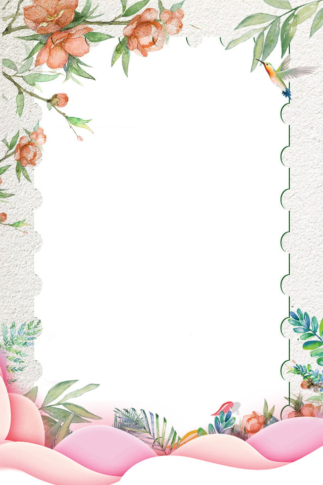 Fresh Flower Card Border Background Illustration, Border ...