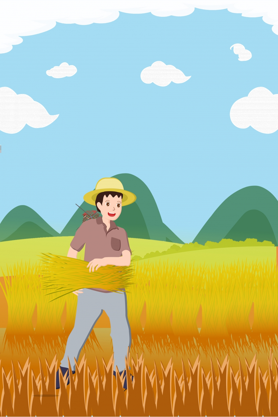 Labor Day Cartoon Farmer Background Farmer May Day Working People Background Image For Free Download