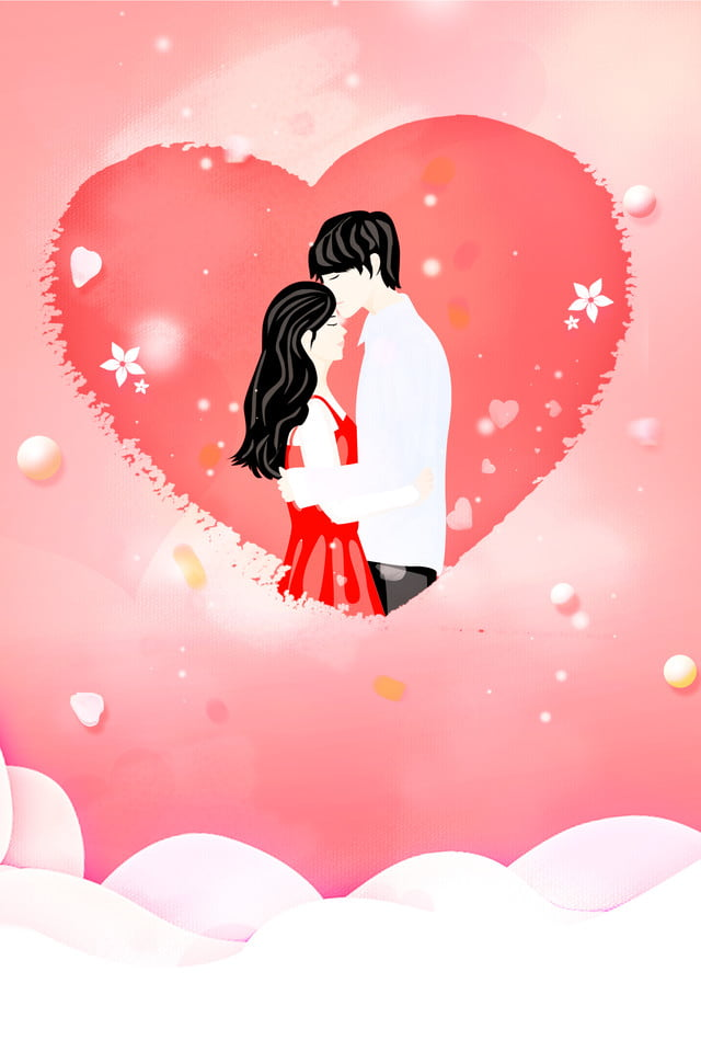 Pink Love Couple 520 Valentine S Day Poster Background Pink Love Romantic Background Image For Free Download