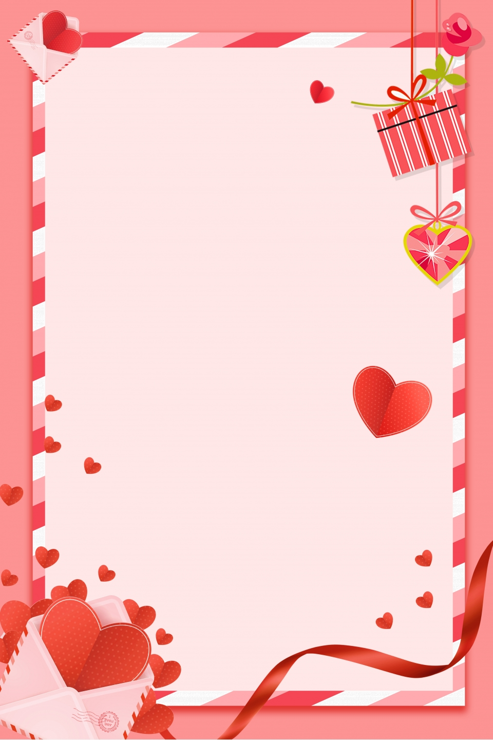 pink romantic border 520 valentines day poster background