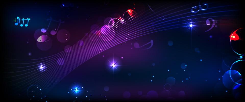 Purple Minimalist Music Note Banner Background, Music ...