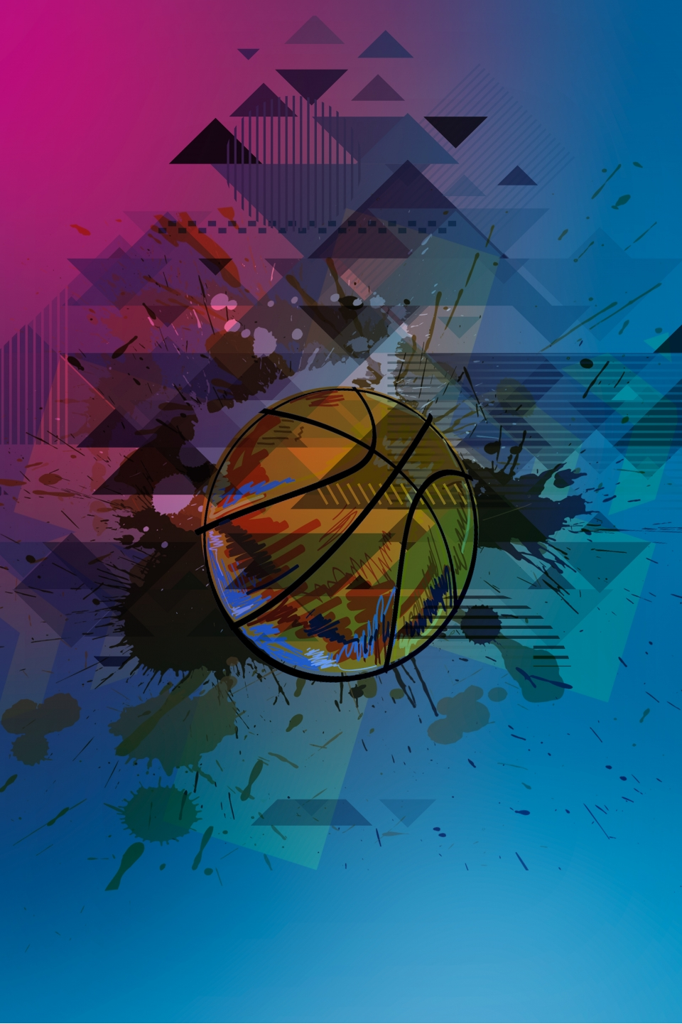 Simple Basketball Cool Afterimage Background Sports Fitness Youth Background Image For Free Download