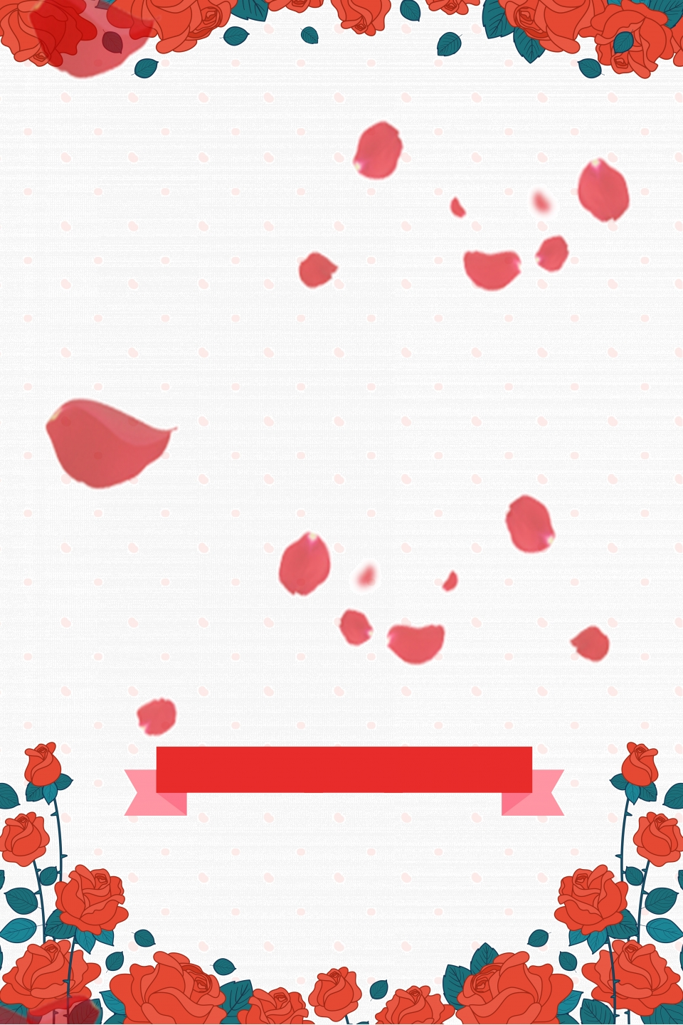 Simple Cartoon Flower Petals Background For Love Price 520 Valentine S Day Background Image For Free Download