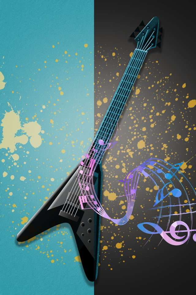 Simple Creative Electric Guitar Colorful Background Simple Creative Electric Guitar Background Image For Free Download