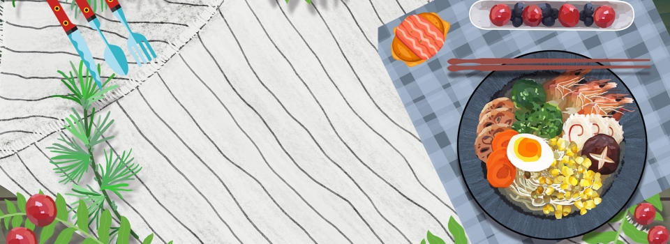 Meja Makan Gourmet Sederhana Yang Dilukis Dengan Tangan Dan Menghadap Latar Belakang Katering Masakan Kartun Gambar Latar Belakang Untuk Unduhan Gratis