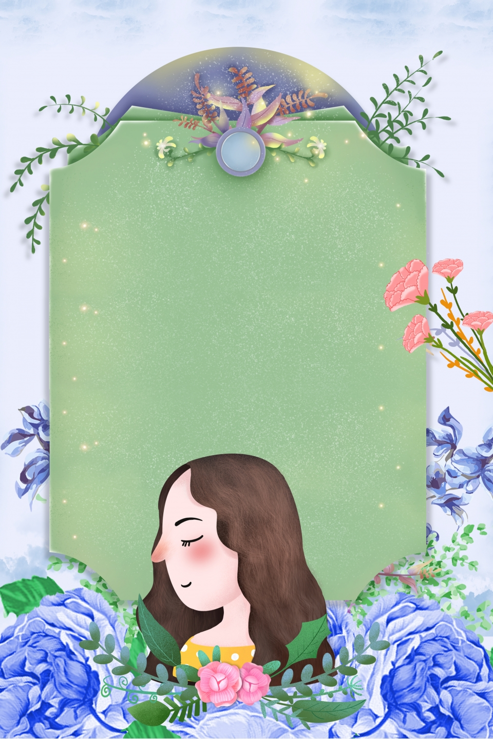 Simple Mother S Day Border Floral Background Composition Mother S