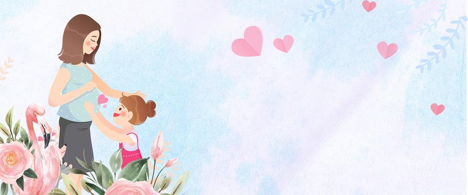 Bahan Untuk Poster Hari Ibu Hari Ibu Ibu Biru Hangat Biru Bahan Poster Hangat Imej Latar Belakang Untuk Muat Turun Percuma