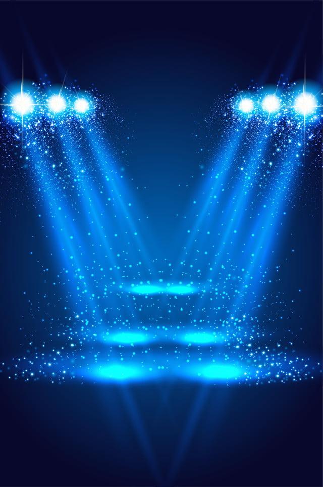 Blue Technology Light Effect Background Blue Light