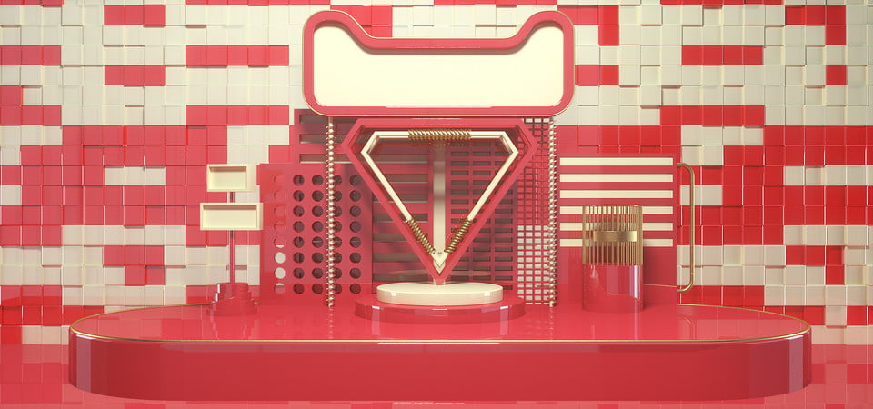 C4D Texture Taobao Tmall Promotion Booth Background