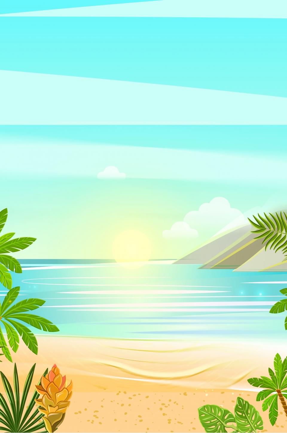 Minimal Summer Beach Travel Hd Background Simple Summer Summer Background Image For Free Download