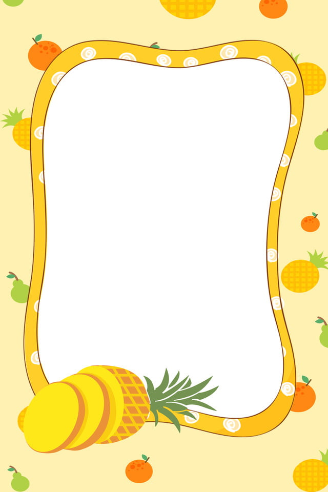 Ananas Frais Dessin Animé Simple D Ananas Fond Dessin Animé