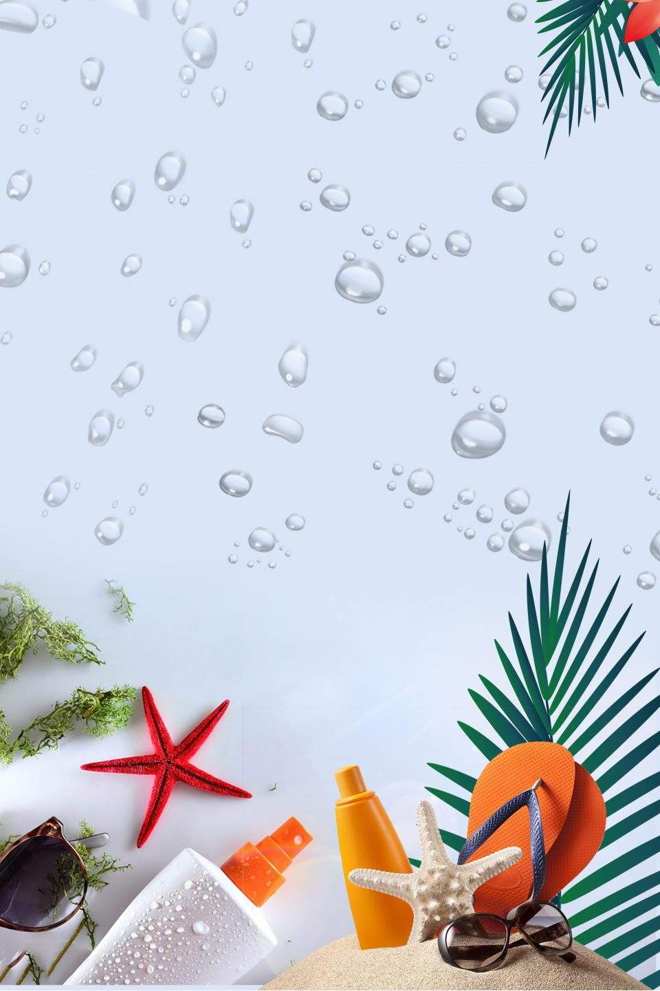 Simple Cosmetic Tropical Background Cosmetics Skin Care Products Toner Background Image For Free Download