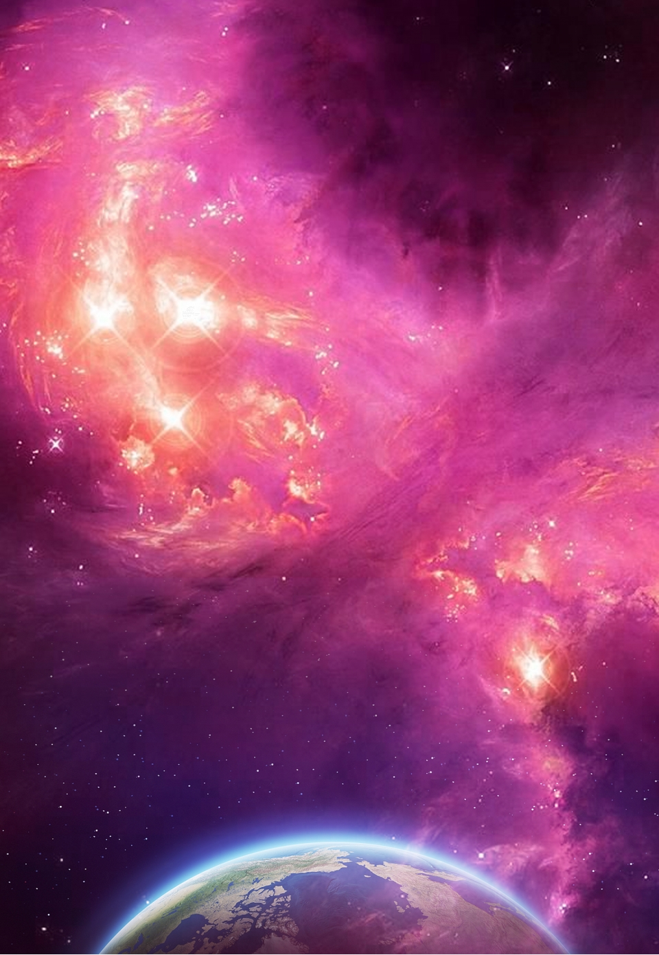 Cosmic Space Starry Sky Poster Background Universe Space Moon Background Image For Free Download