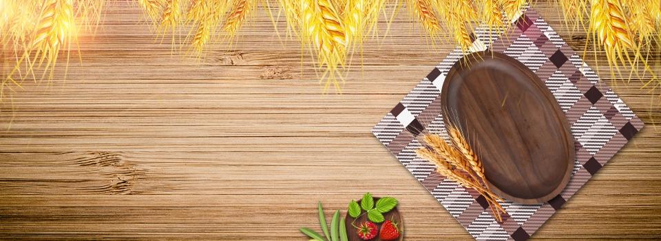 Makanan Kayu Meja Makanan Ringan Taplak Meja Makanan Gandum