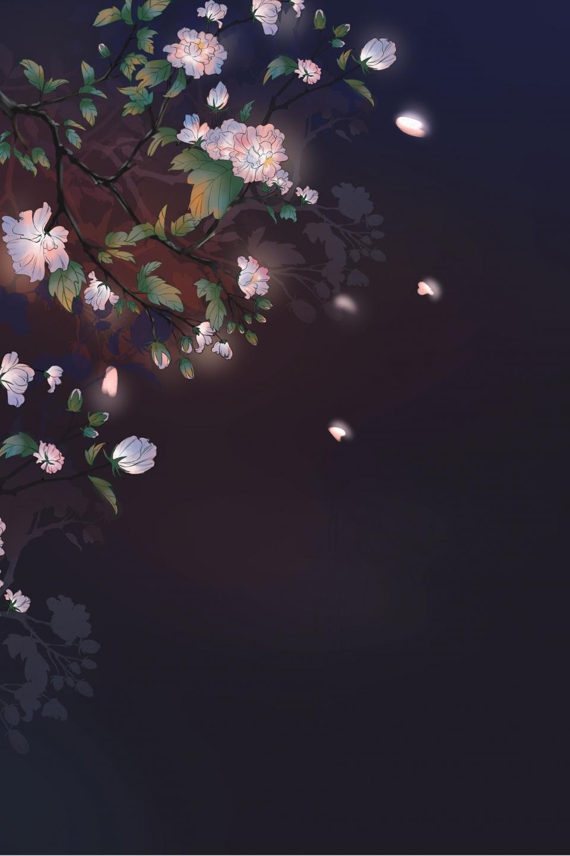 Healing Hibiscus Flower Black Background Beautiful Poster ...