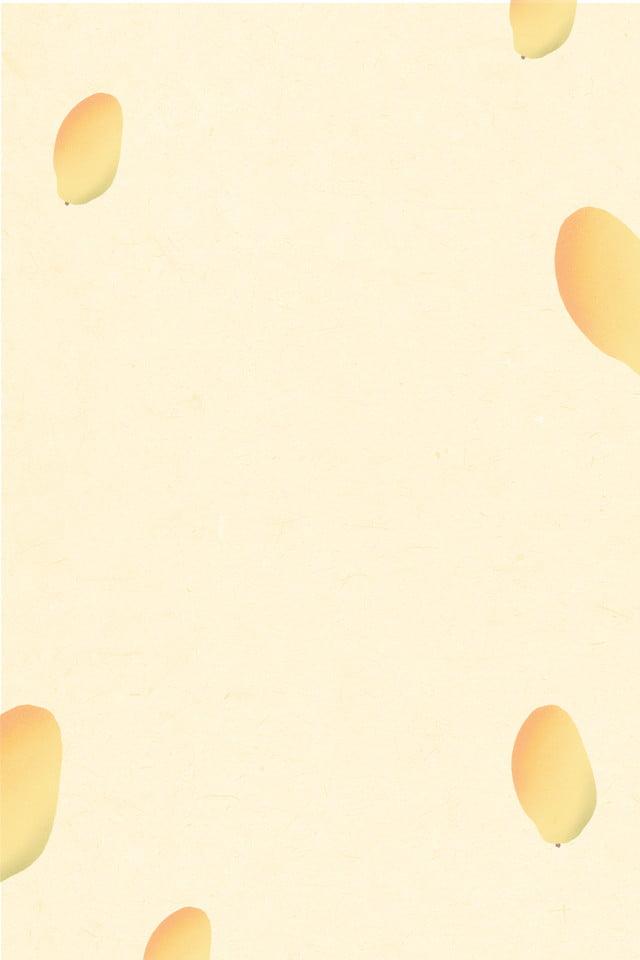 Nền Trái Cây Màu Vàng Nhạt Tô điểm Xoài Tối Giản Phim Hoạt
