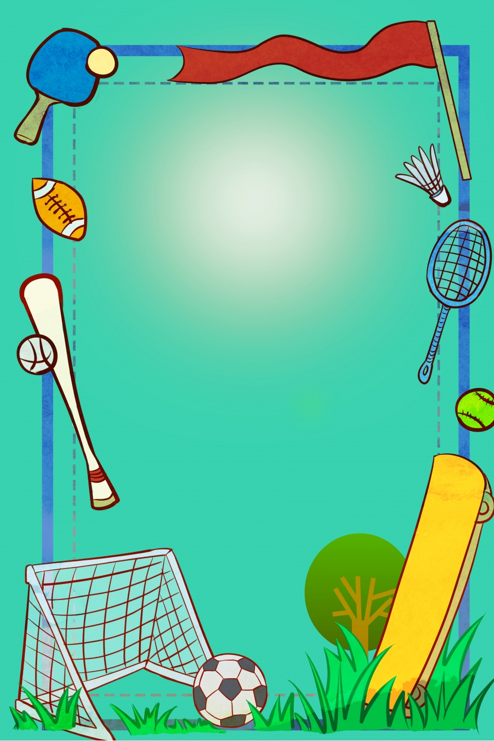 Sport Border Green Simple Wind Poster Banner Background Sports Border Green Background Background Image For Free Download