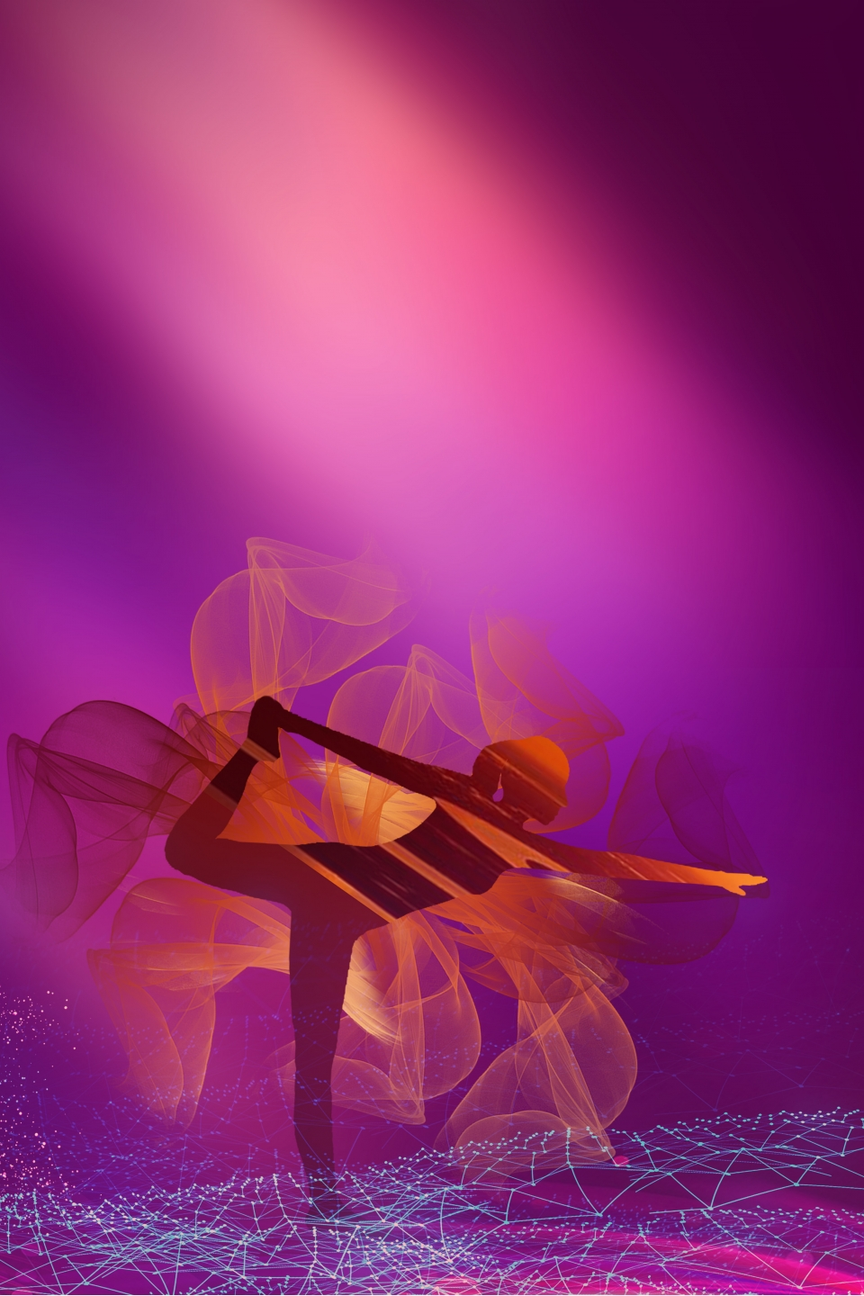 Yoga Purple Minimalist Poster Banner Background Yoga Purple Background Literary Background Image For Free Download