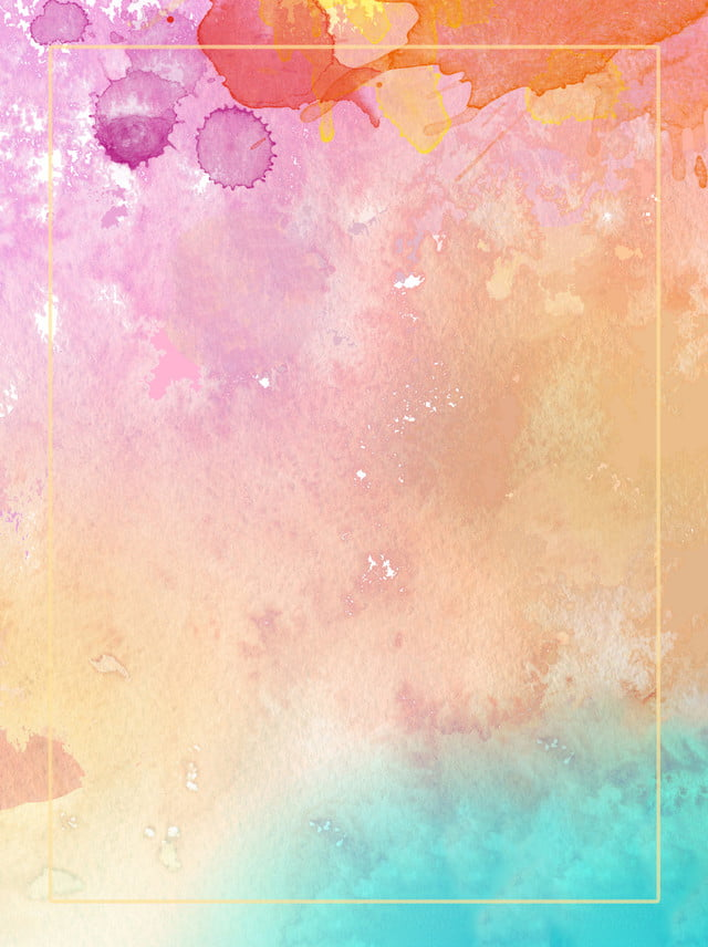 Beautiful Small Fresh Gradient Ink Watercolor Background