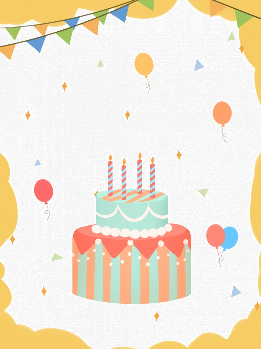 Birthday Party Cartoon Cute Background Birthday Cake Cartoon Background Image For Free Download