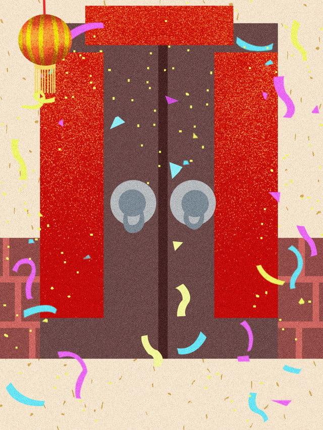 Porte D Entrée Rouge fond rouge fond de fête nouveau fond de printemps porte d