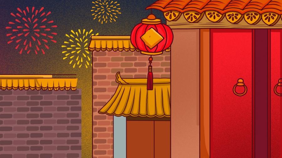 Porte D Entrée Rouge nouvel an fond fond rouge fond festif porte d'entrée, fond