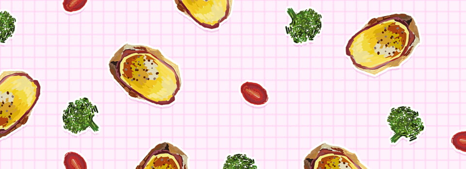 Hand Drawn Healthy Food Banner Background Psd, Hand Painted, Powder, Plaid  Background Image for Free Download