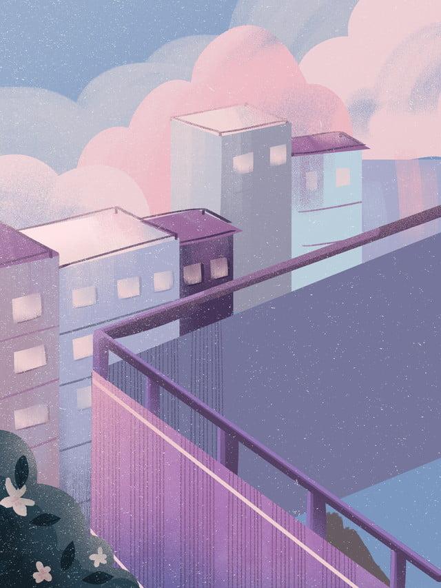 Hand Drawn School Building Background Design School Building Roof School Background Image For Free Download