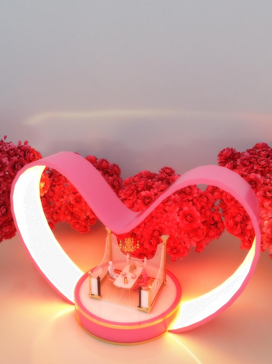 Amour Amour Romantique Rouge De Saint Valentin Fond Image