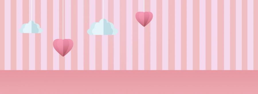 السحب الحب المشارب الوردي النشاط السحب غير لامع صورة الخلفية للتحميل مجانا