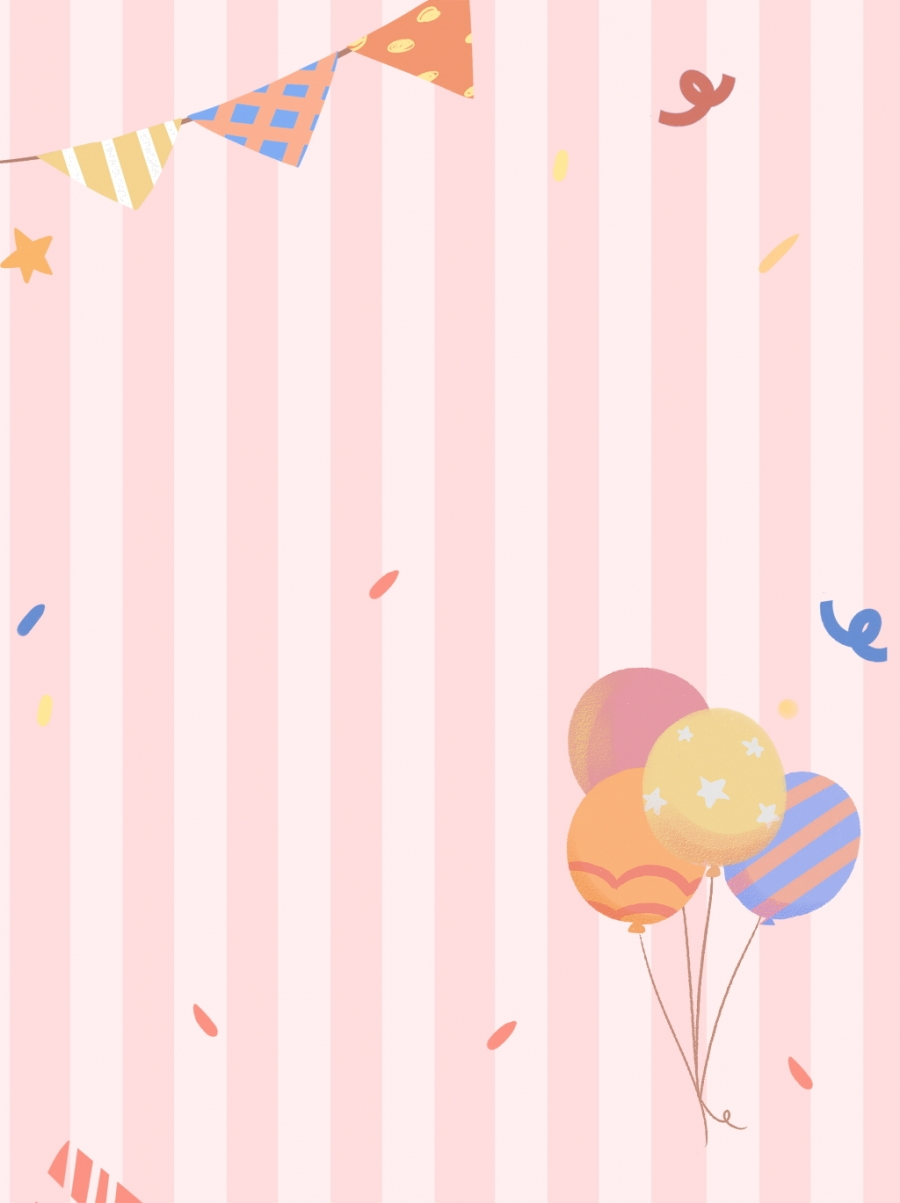خلفية مخططة باللون الوردي بالون العلم زهري شرائط جذاب صورة الخلفية للتحميل مجانا
