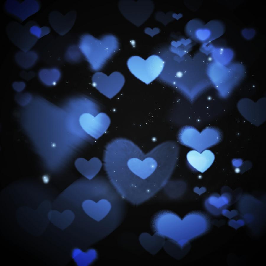 Pure Original Black Valentine Love Light Spot Background, Black Valentine, Love  Background, Blue Background Background Image For Free Download