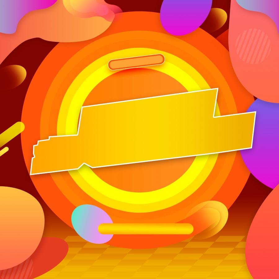 Purple Gradient Border Tmall Fan Carnival Theme Background