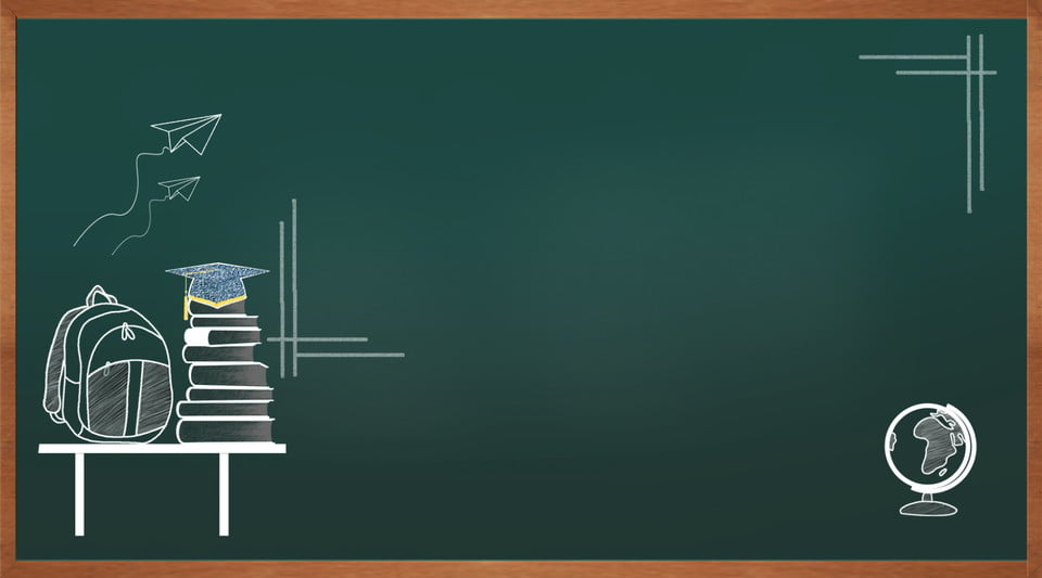 simple atmosphere green chalkboard teaching illustration